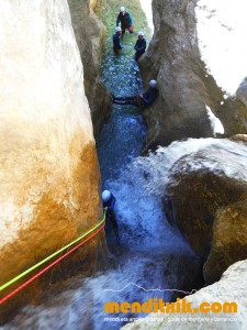 Formiga guara descenso cañones barrancos arroila jaitsiera menditxik guías de montana barrancos mendi arroila gidariak 5