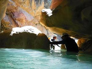 Rio Vero barranquismo descenso barrancos guara alquezar menditxik guias montana
